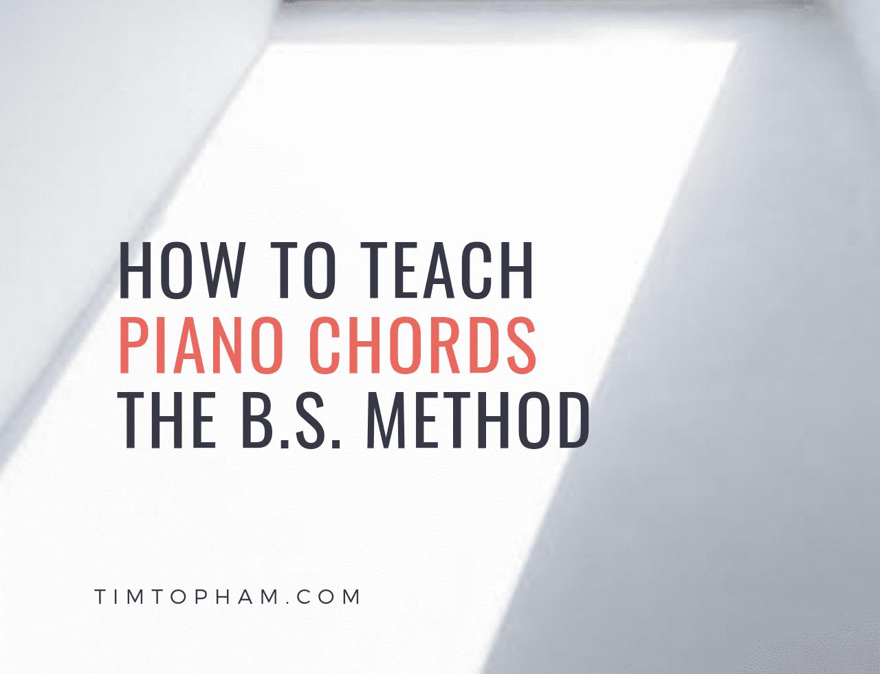 teach piano chords