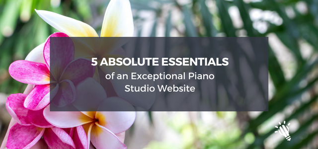 piano studio essentials
