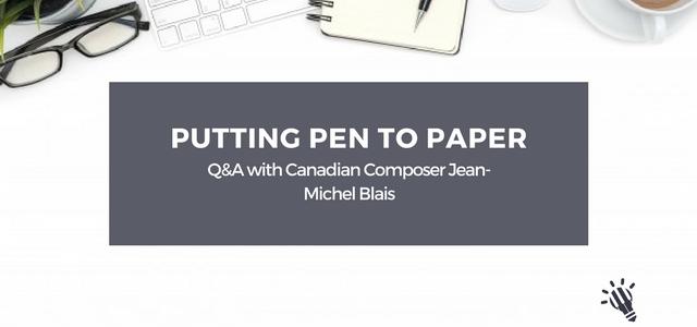 composer Jean-Michel Blais
