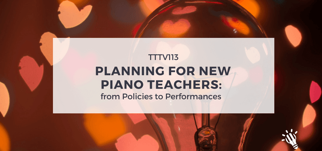 planing new piano teachers performances policies