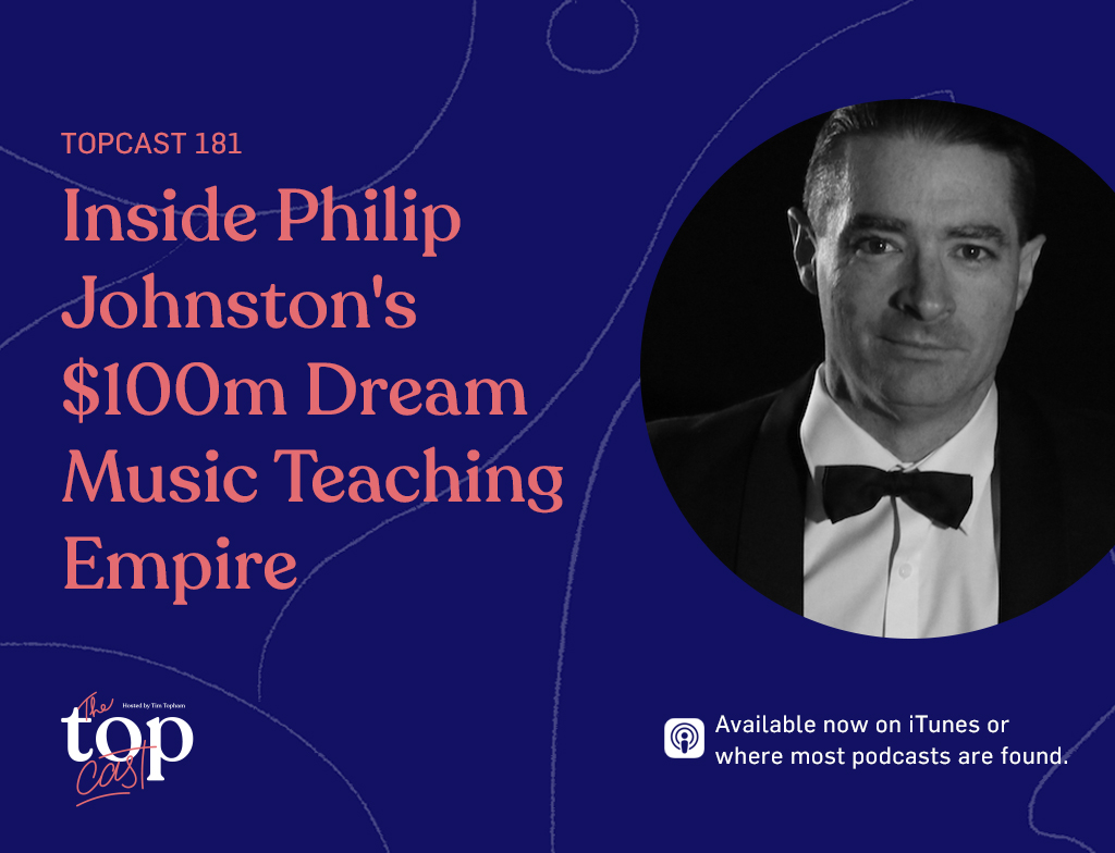 music teaching empire with guest Philip Johnston