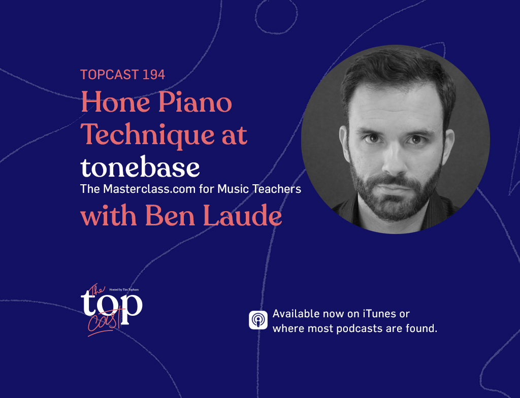 Learn piano at tonebase the masterclass.com for music teachers