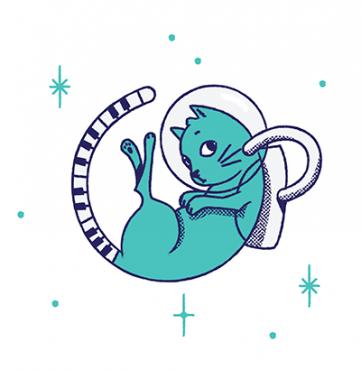 illustration of Bronson the Cat, the mascot of TopMusicPro Lite